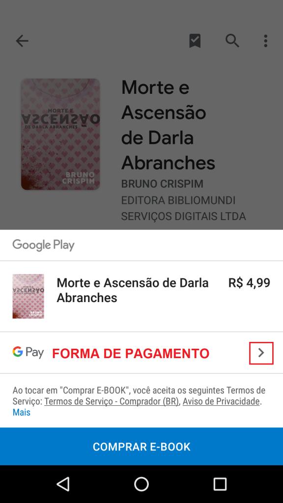 Como comprar ebook pelo celular no Google Play Store